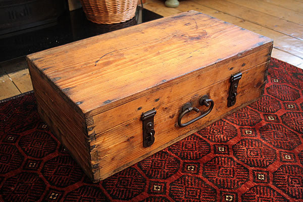 Vintage Trunk Wooden Box/Suitcase Restored - Arte Povera - 2