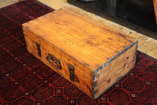 Vintage Trunk Wooden Box/Suitcase Restored - Arte Povera - 4