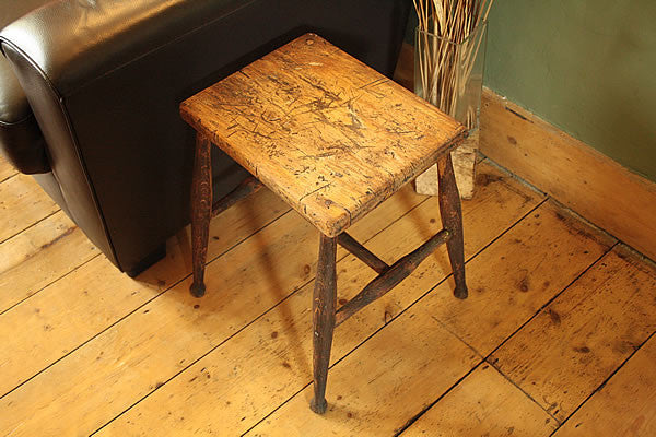 Side Table End Table From Vintage Butcher Small Table - Arte Povera - 4