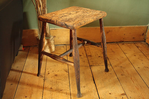 Side Table End Table From Vintage Butcher Small Table - Arte Povera - 2