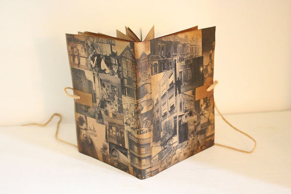 Handmade Vintage Design Journal - Vintage Black & White Photos Cover