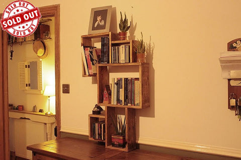 Wall Bookshelves Boxes Made With Pallet Wood