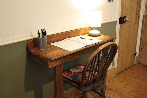 Wall Table Kitchen Desk Console Made With Reclaimed Timber And Pallet Wood