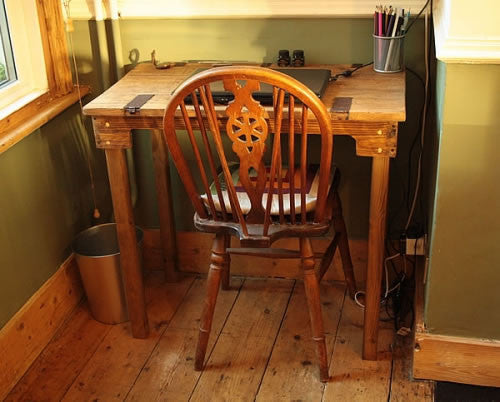 Great rustic table that we purchased for a home office, very sturdy and exactly as described. Great workman ship and quick delivery. Can't recommend this store enough. - Arte Povera