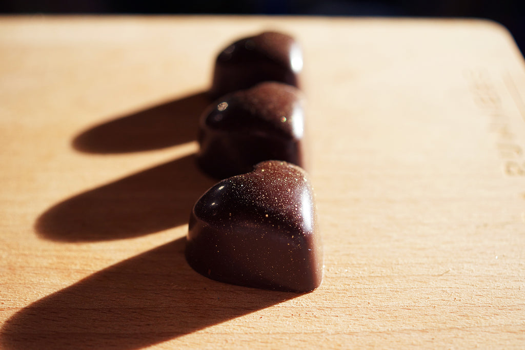 Dark Chocolate Inca Sun Salt Caramel Hearts