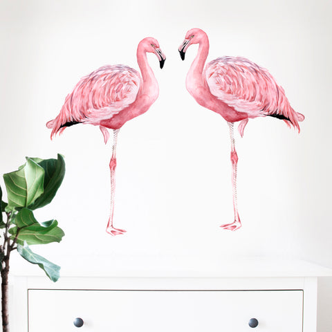 Flamingos Pair Wall Stickers