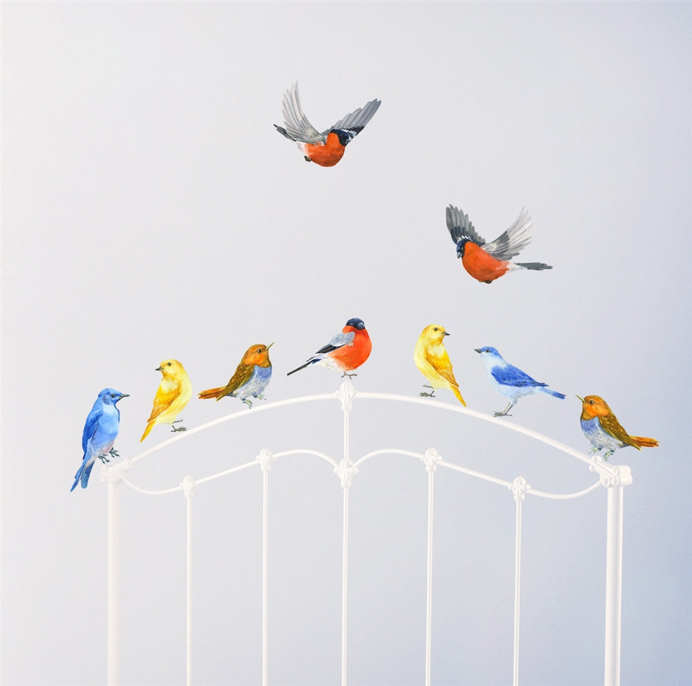 Lovely Birds Wall Decals, Birds In Flight, Birds Wall Stickers