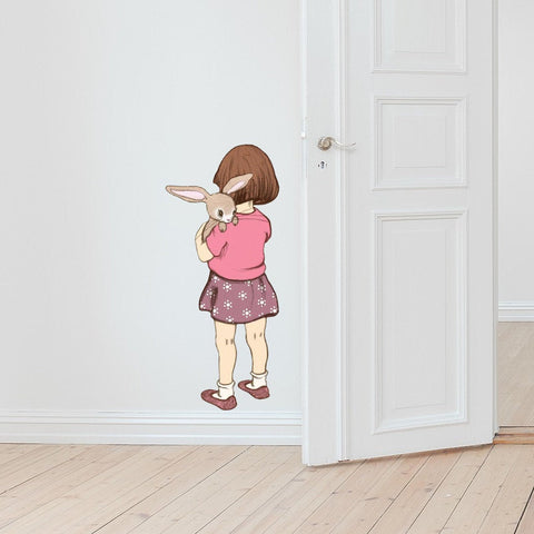 Belle Hugs Boo Wall Sticker
