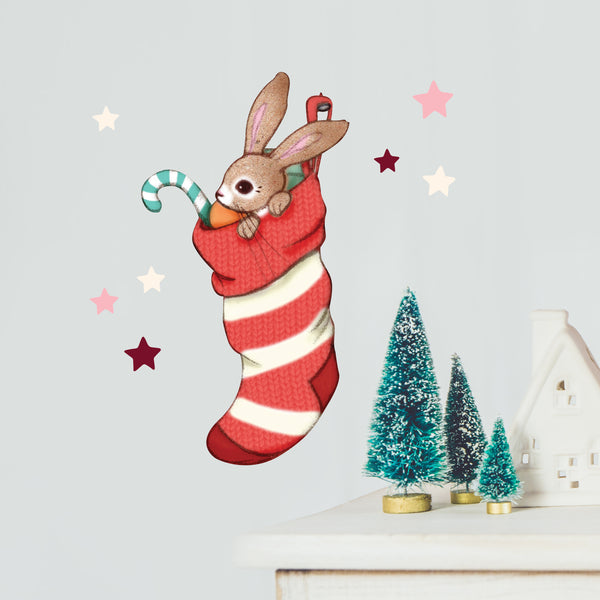 Boo's Jolly Stocking Wall Sticker