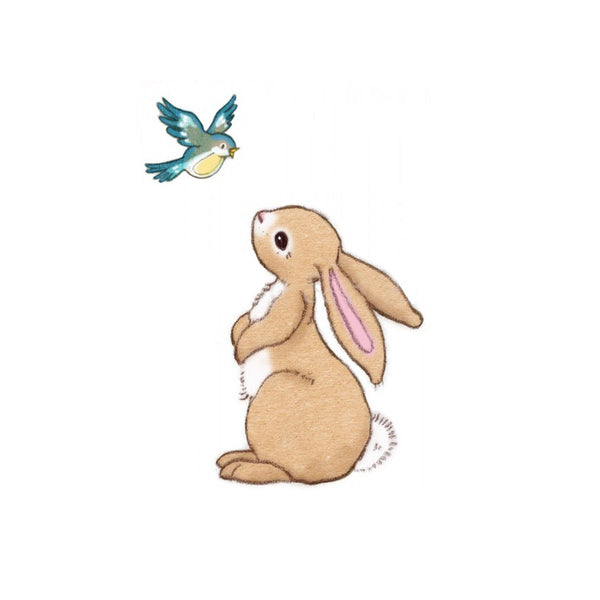 Boo and The Blue Bird Bunny Wall Stickers
