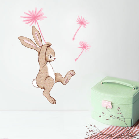 Boo and The Dandelion Bunny Wall Stickers