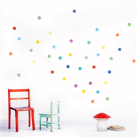 Watercolour Confetti Dots Wall Stickers