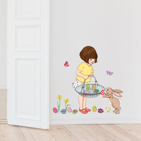 Belle & Boo Easter Basket Wall Stickers
