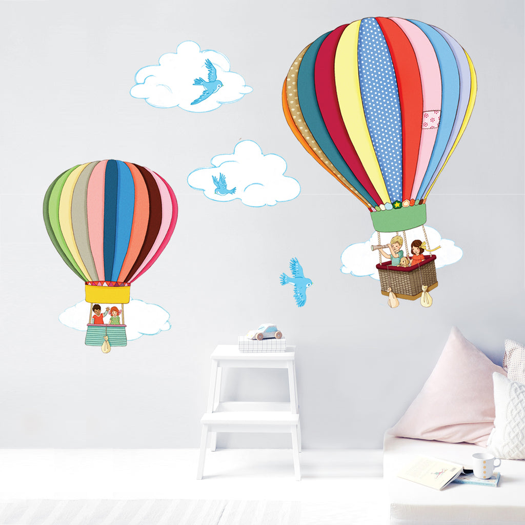Hot Air Balloons Wall Stickers
