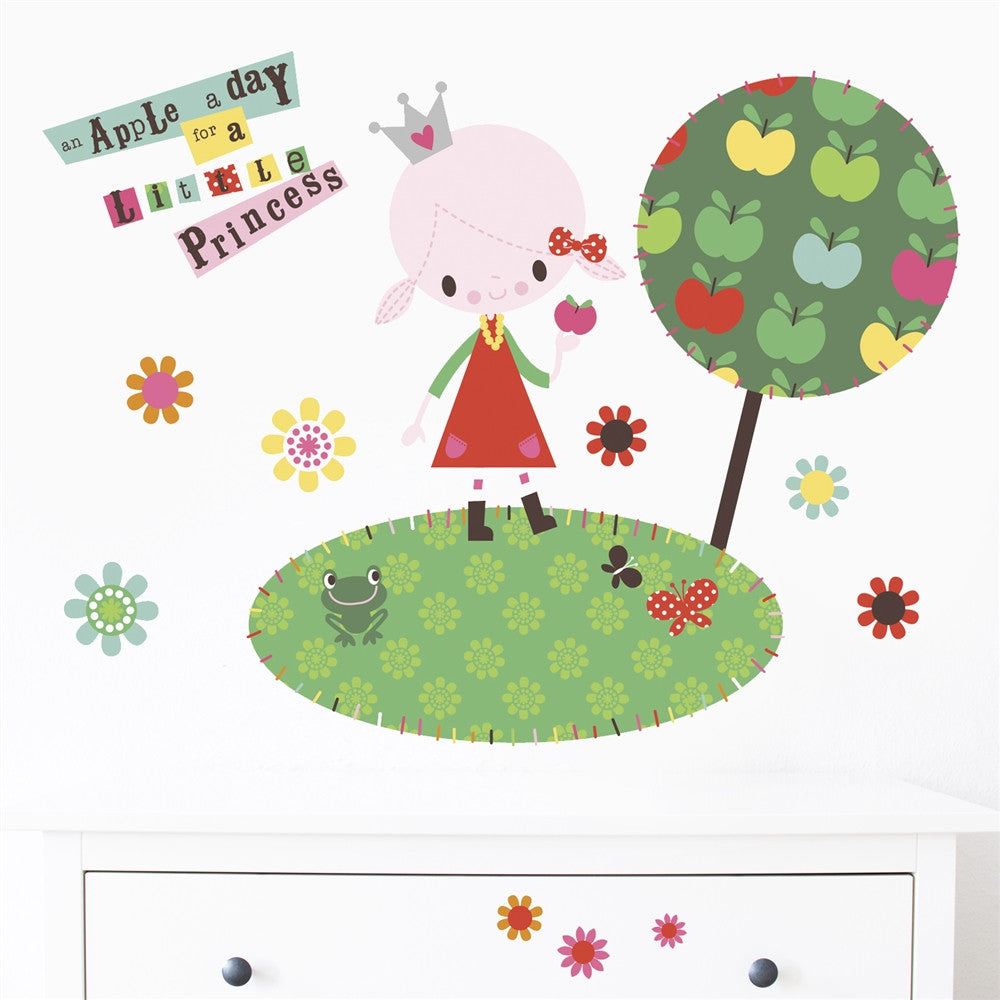 Princess Wall Stickers, Apple A Day