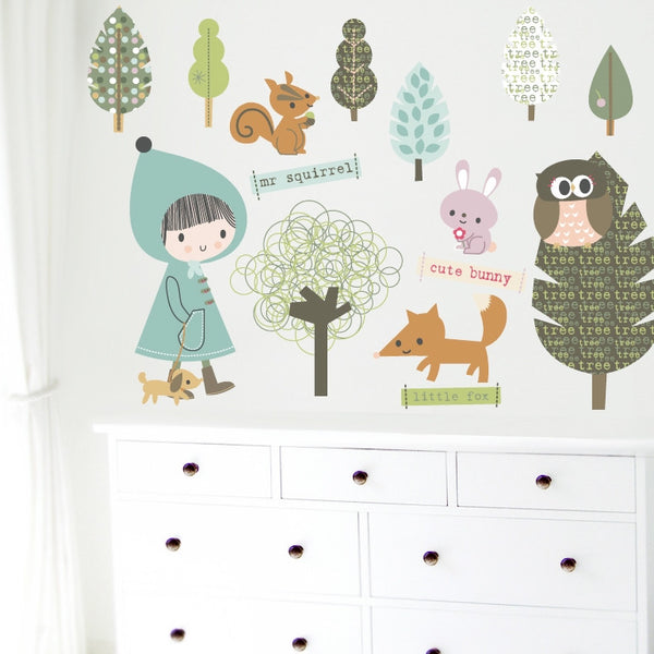 Cute Forest Wall Stickers
