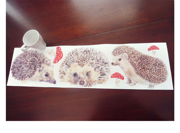 Hedgehog Family Wall Stickers