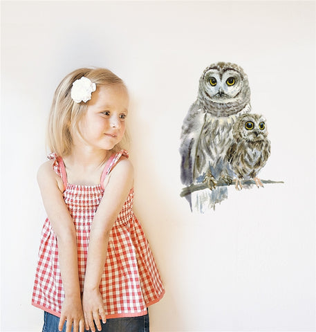 Woodland Owls Wall Stickers