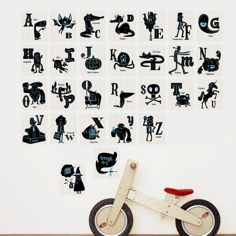 Monsters Alphabet Wall Stickers
