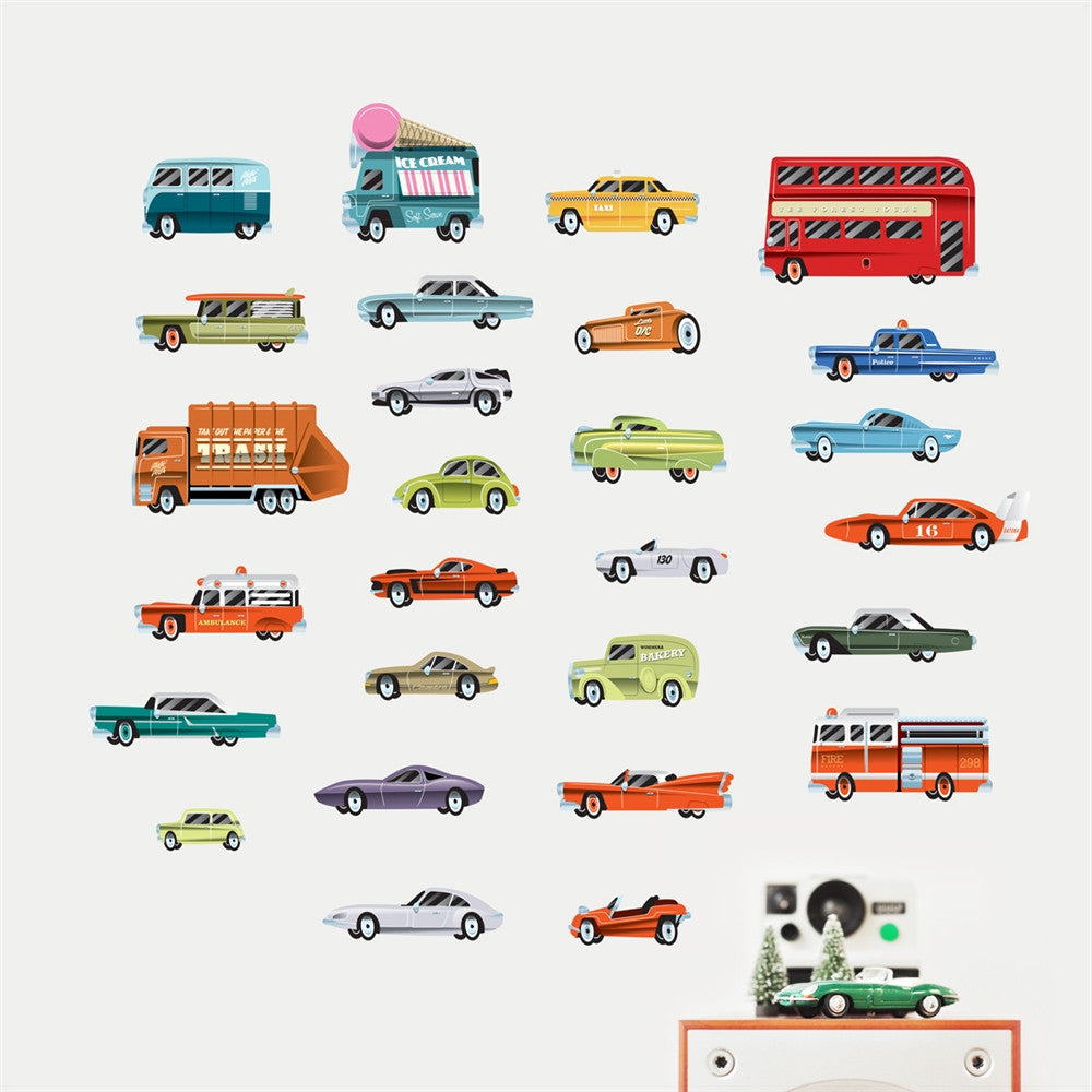 Vintage Cars Wall Stickers