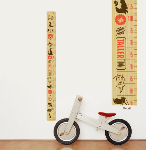 Taller Than Height Chart Sticker