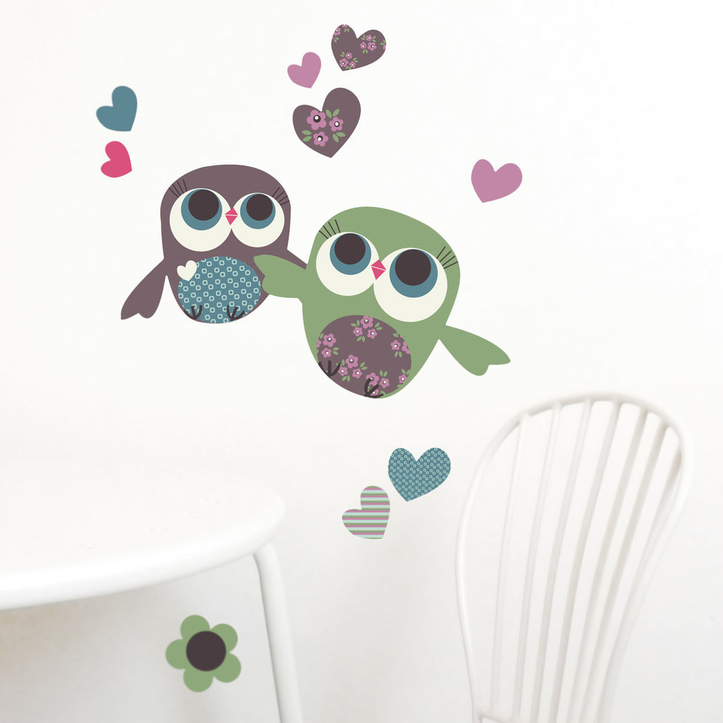 Owls Wall Stickers, Mini