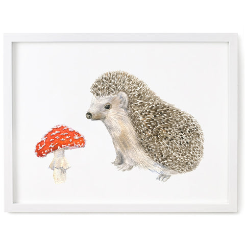 Hedgehog & Toadstool Print