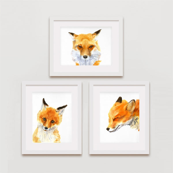 Fox Prints, Fox Family Set, 3 for 2