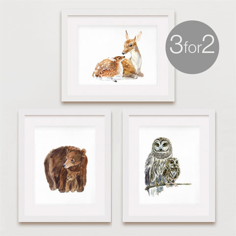 Mom & Baby Animal Prints, 3 for 2