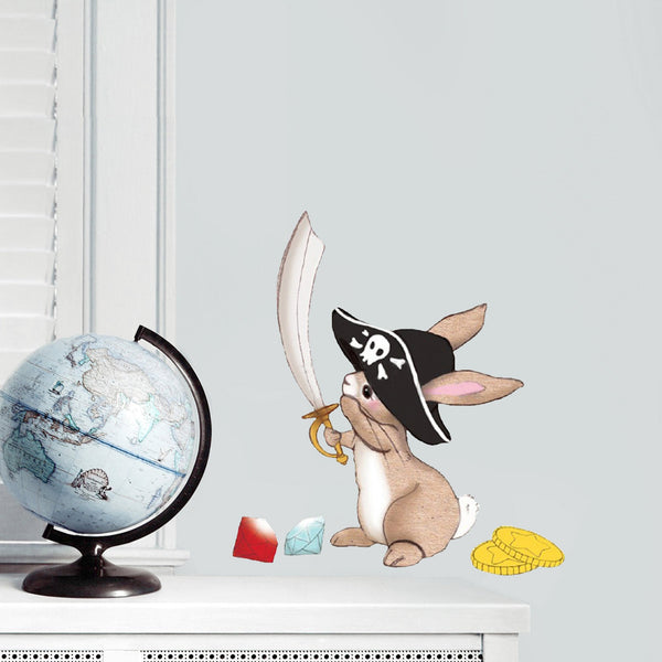 Pirate Boo Bunny Wall Stickers