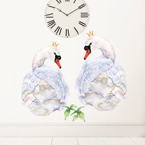 Swans Pair Wall Stickers
