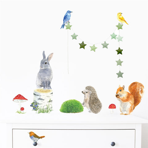 Woodland Animals Wall Stickers, Small