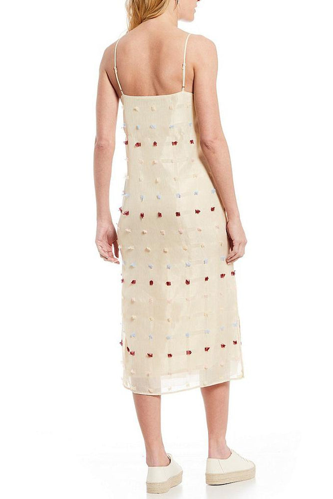 Load image into Gallery viewer, Textured Square Midi Slip Dress