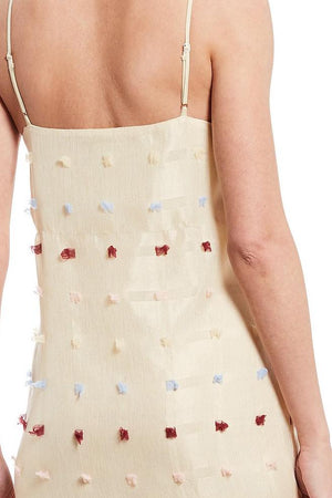 Textured Square Midi Slip Dress