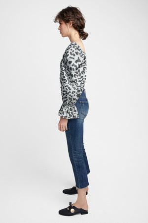 Leopard Rouch Top