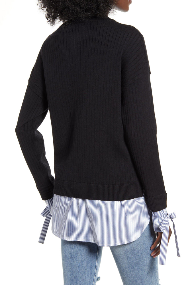 CLOTHING - Twofer Sweater Top With Tie