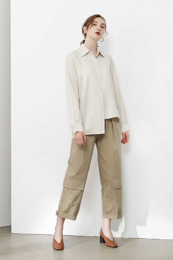 Load image into Gallery viewer, Apricot Assymetrical Shirt