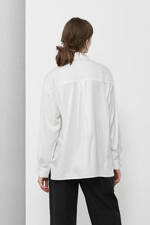 White Assymetrical Shirt