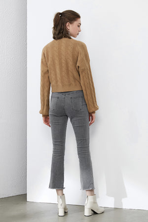 Load image into Gallery viewer, Khaki Cable Knit Jumper