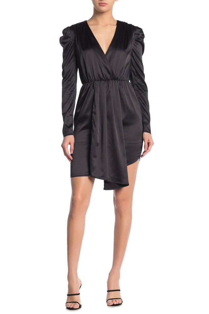 Load image into Gallery viewer, Puff Sleeve V-Neck Dress