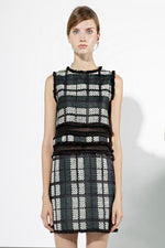 CLOTHING - Greend Checked Sleeveless Dresses