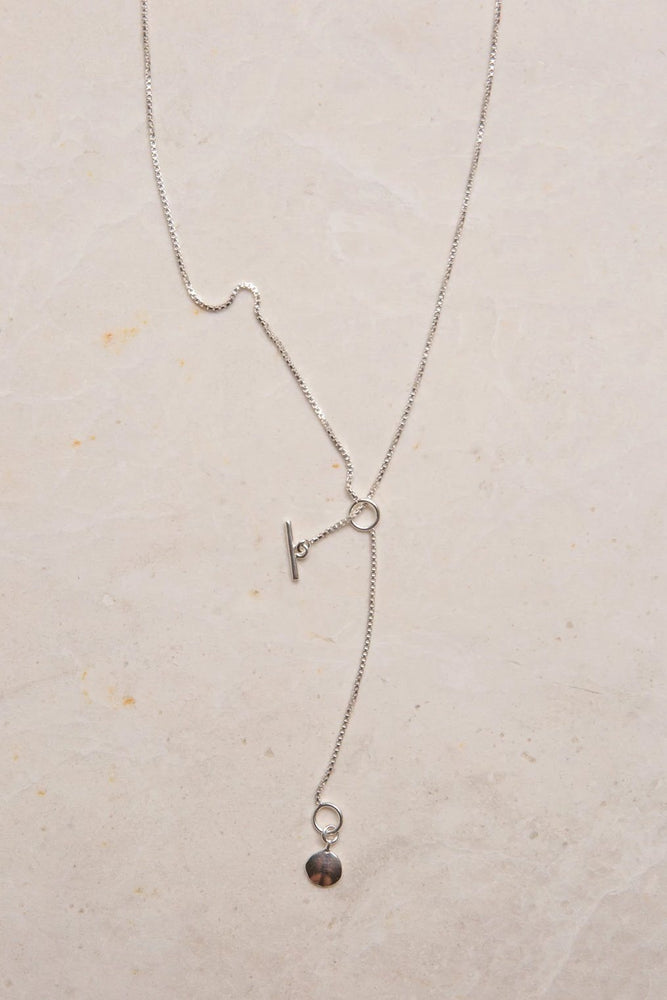 Eva Box Chain Necklace - Sterling Silver