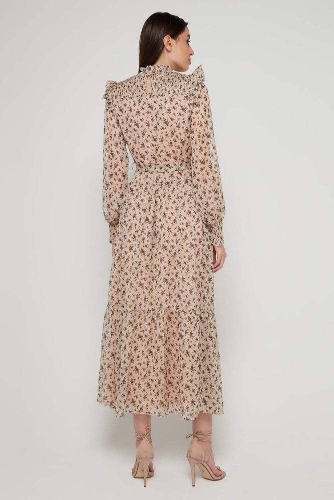 CLOTHING - High Neck Floral Maxi Dress