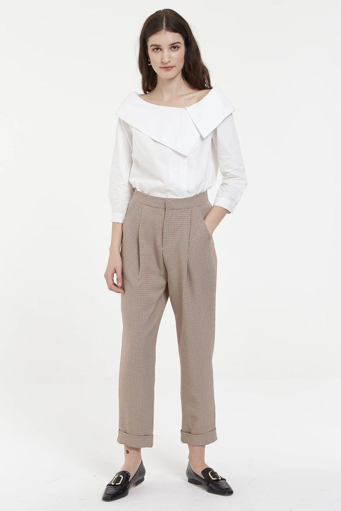 CLOTHING - White Off The Shoulder Shirt With Asymmetric Collar
