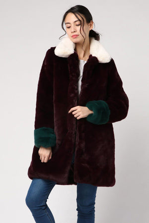 Load image into Gallery viewer, Mabel Coloublock Fur Coat