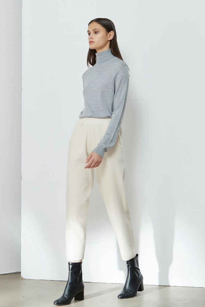 Load image into Gallery viewer, Off-White Elasticated-Waist Carrot Trousers