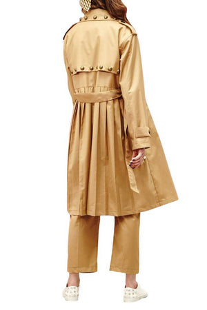 Load image into Gallery viewer, Gatsby Studded Trench Coat