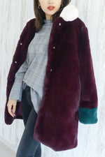 NEW IN - Mabel Coloublock Fur Coat
