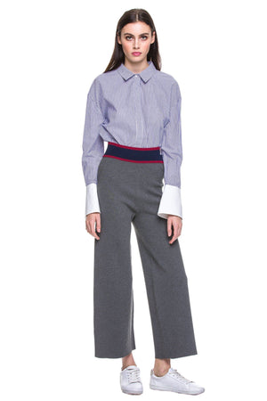 Load image into Gallery viewer, Hem wide leg long pants