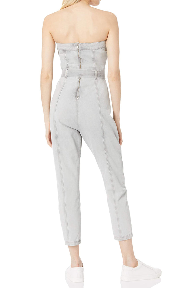 Load image into Gallery viewer, Strapless Jumpsuit With Waist Tie